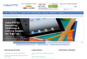 Screenshot of cabotpto.org