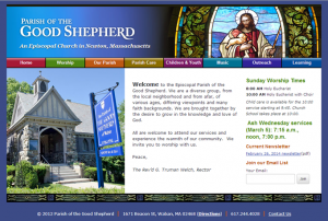 Screenshot: goodshepherdnewton.org