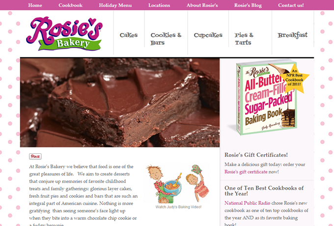 Screenshot: rosiesbakery.com