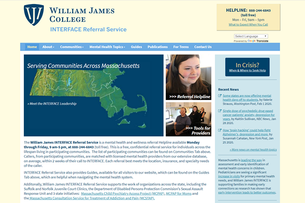 INTERFACE Referral Service of William James College