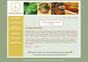 Screenshot: atpeacewithfood.com