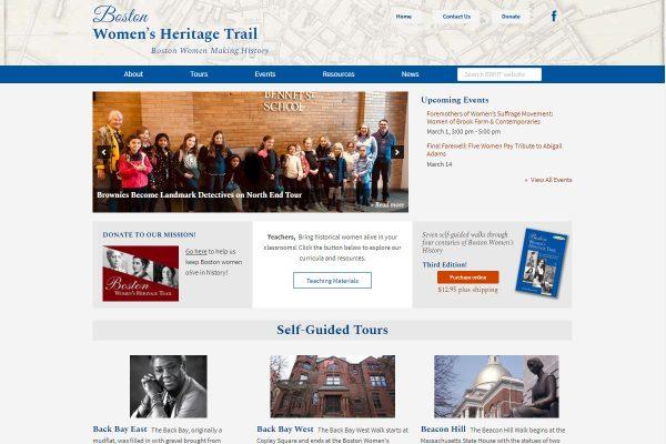 Boston Women's Heritage Trail screenshot