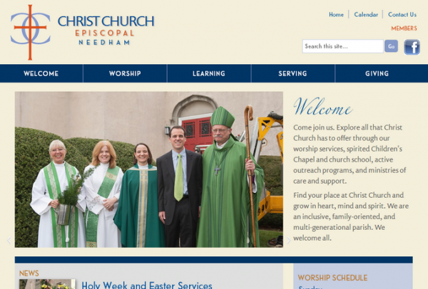 Screenshot of ccneedham.org