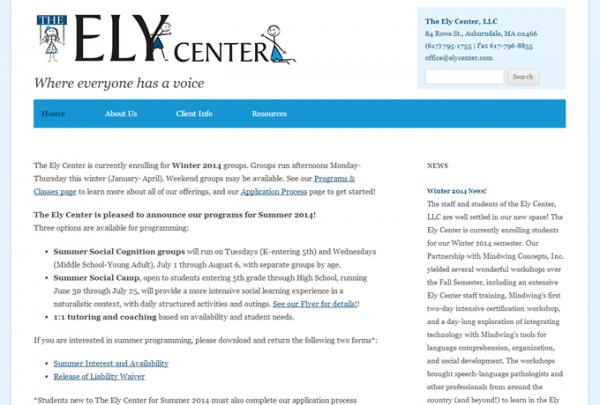 Screenshot: elycenter.com