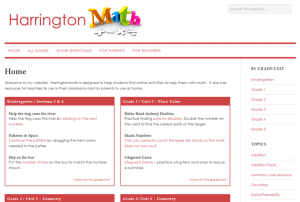 Screenshot: harringtonmath.com