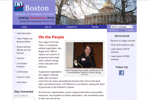 Screenshot: lwvboston.org