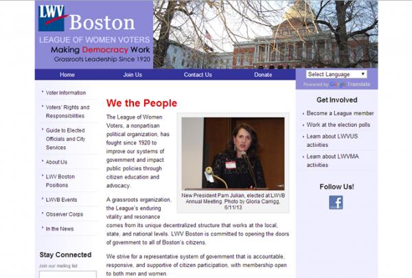 Screenshot: lwvboston.org