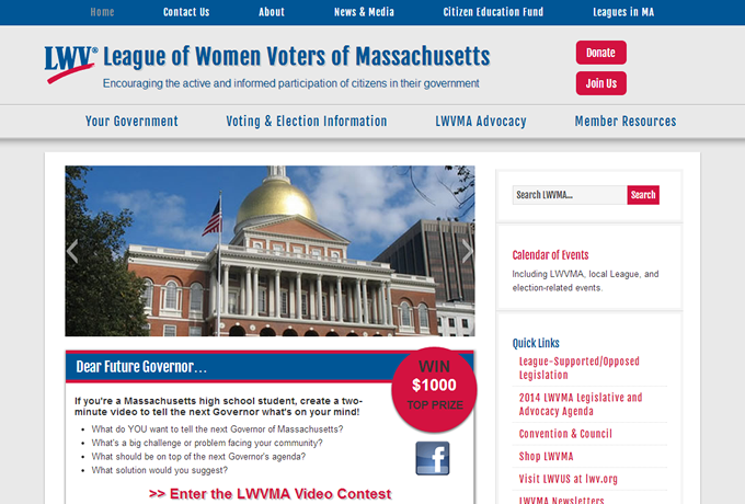 Screenshot: lwvma.org