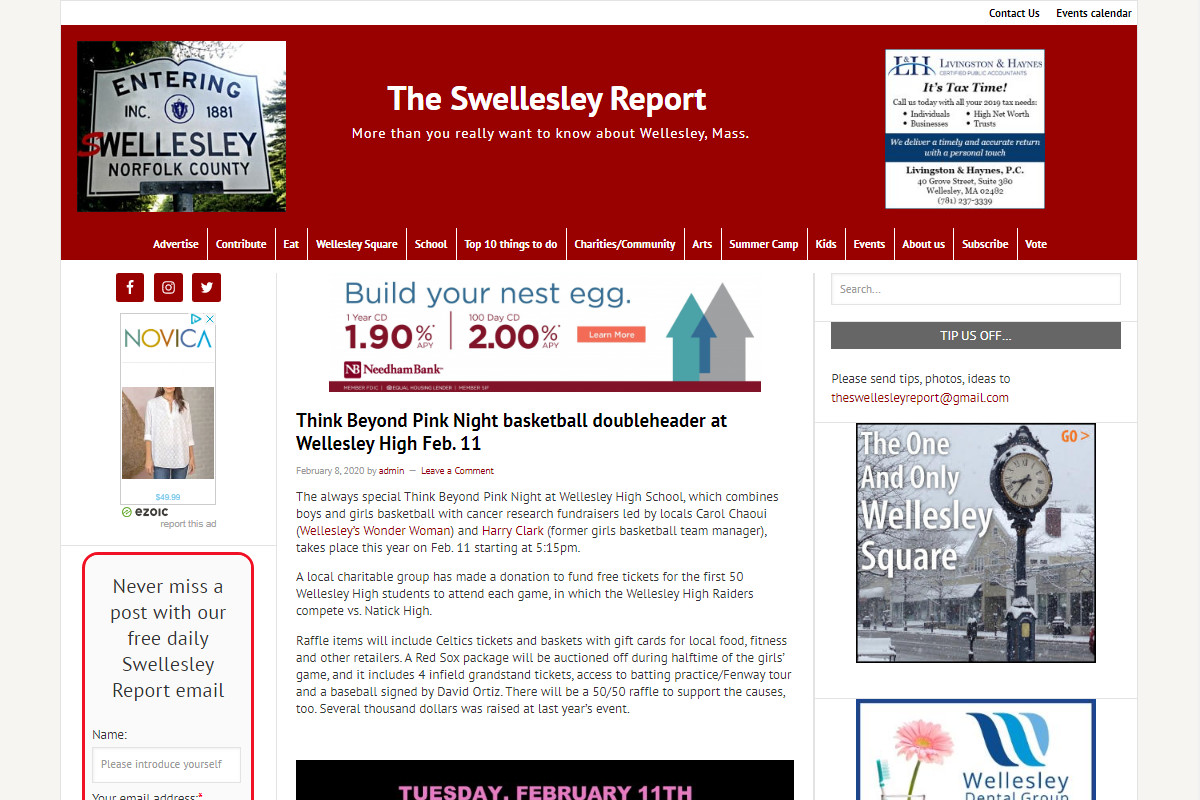 The Swellesley Report